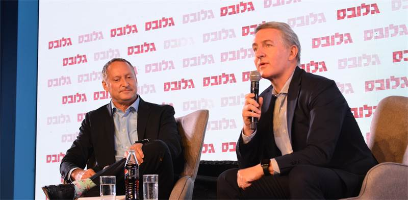 Pepsico CEO Ramon Laguarta and Sodastream CEO Daniel Birnbaum Photo: Tamar Matsafi