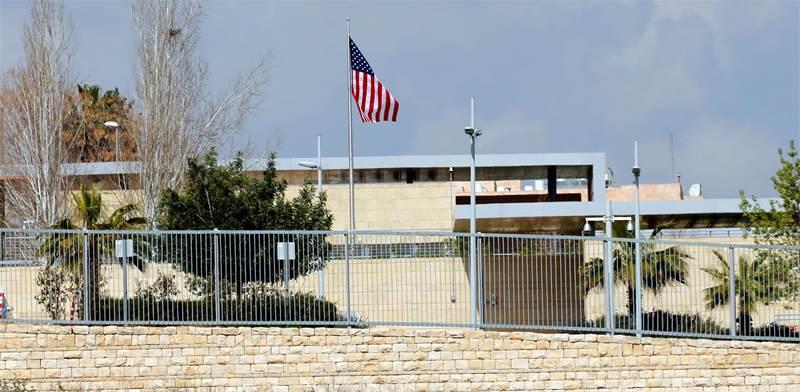"""מיקומה החדש לשגרירות ארה""""ב בשכונת ארנונה / צילום: אמר אווארד, רויטרס"""