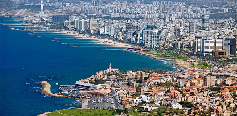 Tel Aviv coastline Photo: Shutterstock
