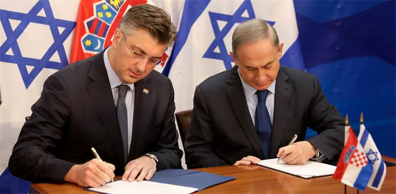 Israeli and Croatian prime ministers Photo: Reuters