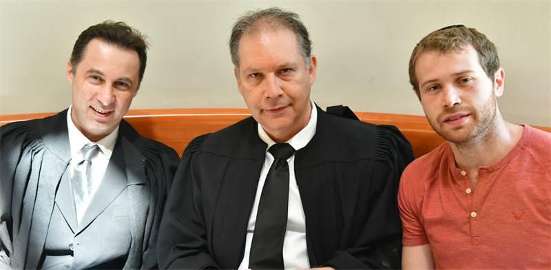 """יצחק בומבך, אילן בומבך ושמוליק ספיר ממשרד עו""""ד אילן בומבך / צילום: רפי קוץ"""