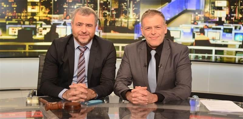"שמעון ריקלין ואראל סג""ל / צילום: ערוץ 20"