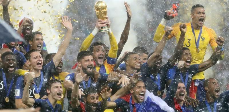 זוכת מונדיאל 2018 - נבחרת צרפת / צילום: רויטרס