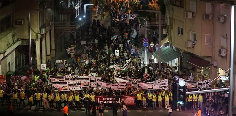 הפגנה נגד המשלוחים החיים בתל-אביב / צילום: עדיאביקזר
