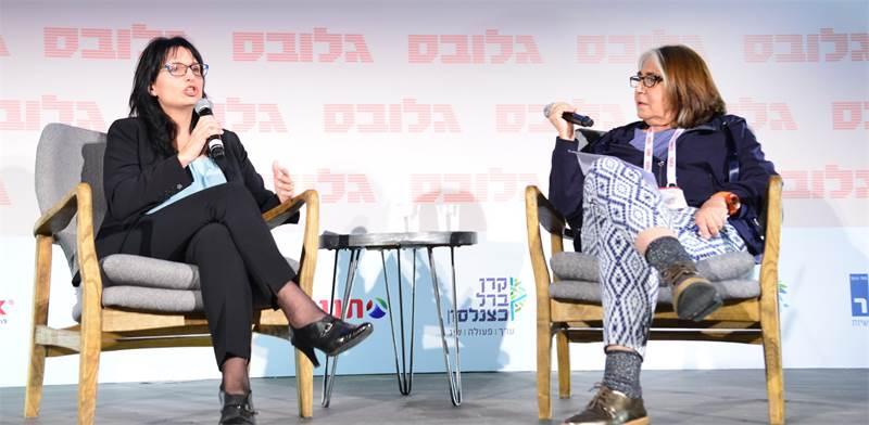 שלומית ווגמן, ראש הרשות לאיסור הלבנת הון, בשיחה עם סטלה קורין-ליבר בוועידת ישראל לעסקים / צילום: תמר מצפי