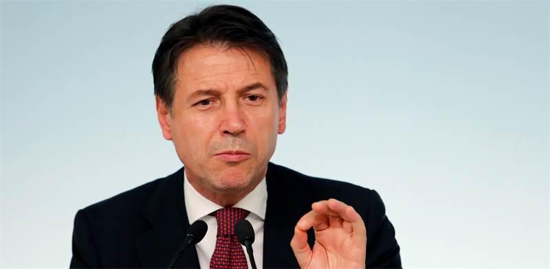 ג'וזפה קונטה, ראש ממשלת איטליה / צילום: רויטרס