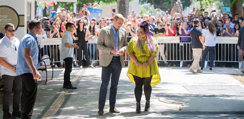 Prince William and Netta Barzilai  photo: Ben Kalmer