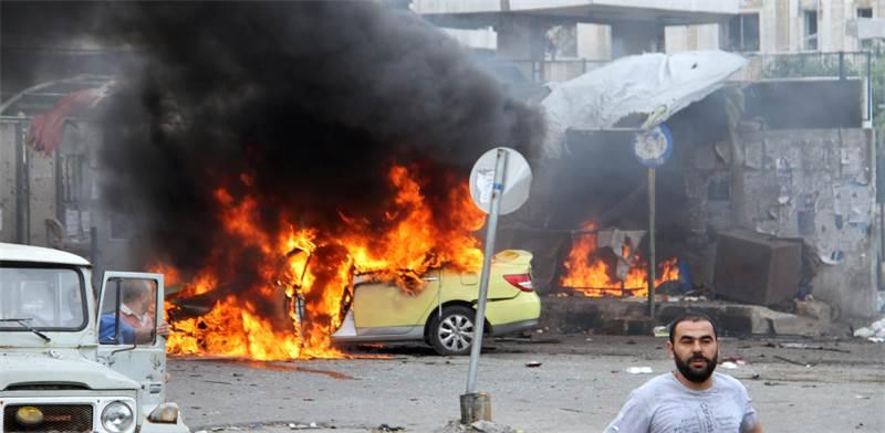 "הפצצות דאע""ש בסוריה / צילום: רויטרס"