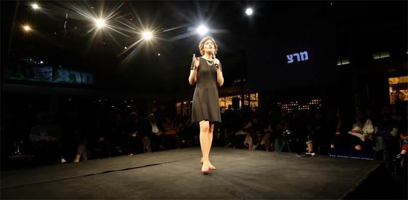 תמר זנדברג בכנס הערב בתל אביב / צילום: אלעד מלכה