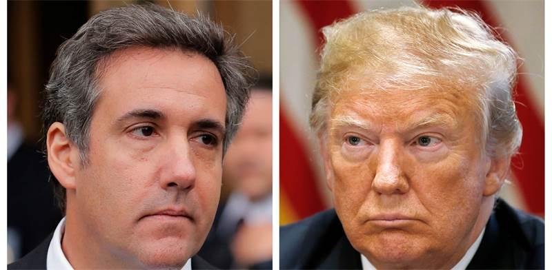 דונלד טראמפ ועורך דינו לשעבר, מייקל כהן / צילום: Reuters