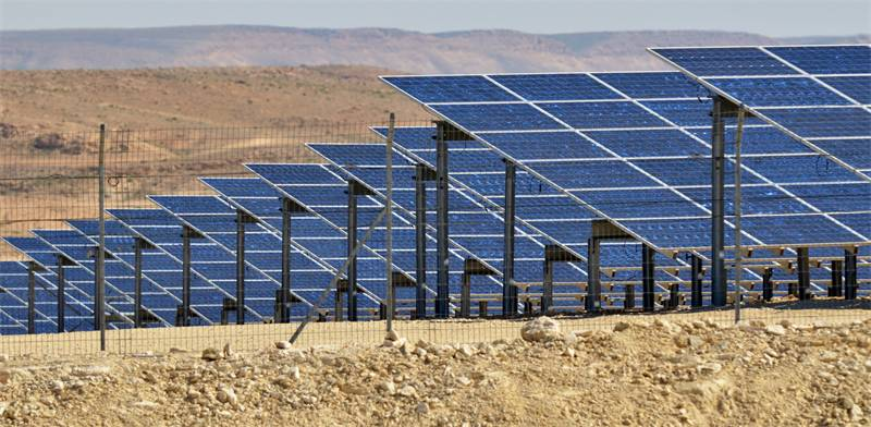 Solar panels in the Negev