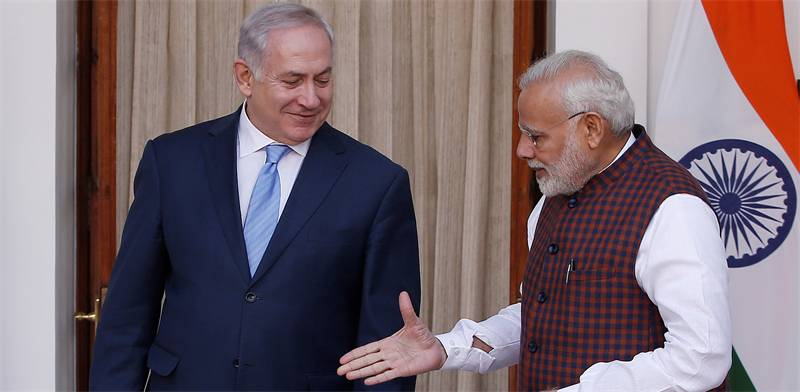 Netanyahu and Modi Photo: Reuters Adnan Abidi