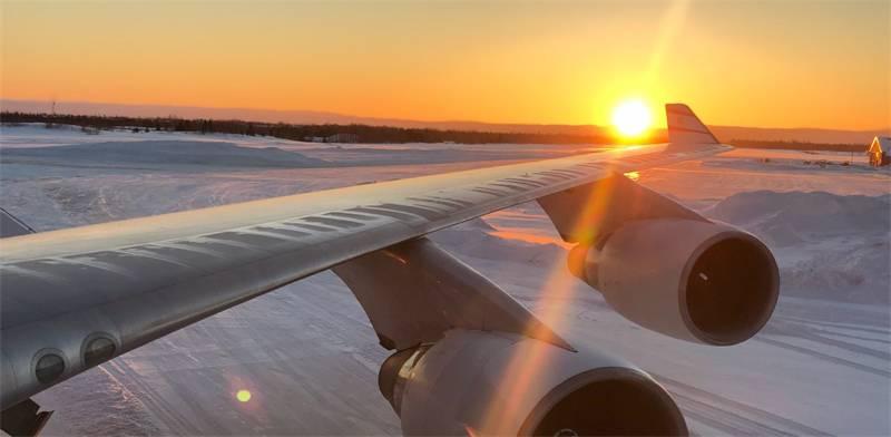 מתוך טיסת אל-על שבוטלה  / צילום: נוסע