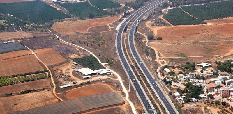 כביש 6 מבט מלמעלה/ צילום: תמר מצפי