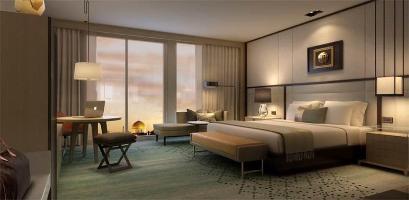 הדמיה של חדר במלון אינטרקונטיננטל / צילום: יחצ