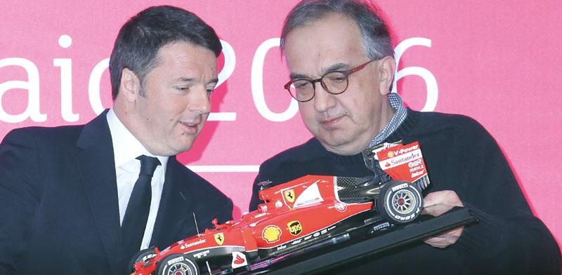 מרצ'יונה עם ראש ממשלת איטליה / צילום: צילום רויטרס