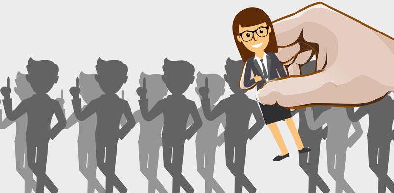 מנהלת ועובדים / צילום:Shutterstock/ א.ס.א.פ קרייטיב