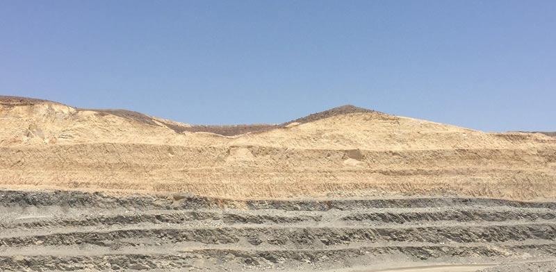 """מכרה פצלי שמן במישור רותם בנגב /צילום: שותפות רא""""מ"""
