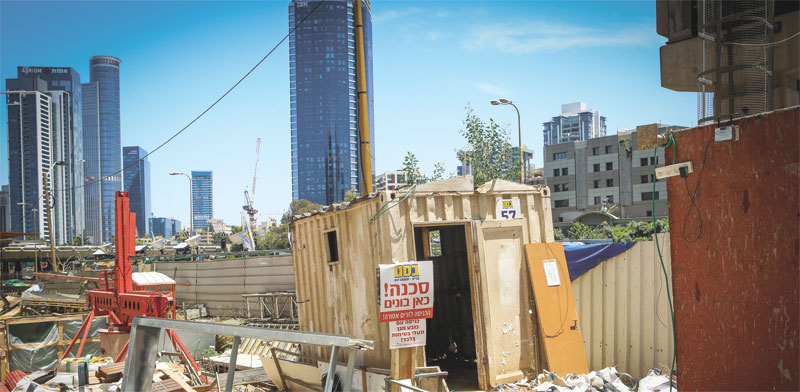 אתר בנייה / צילום: איל יצהר