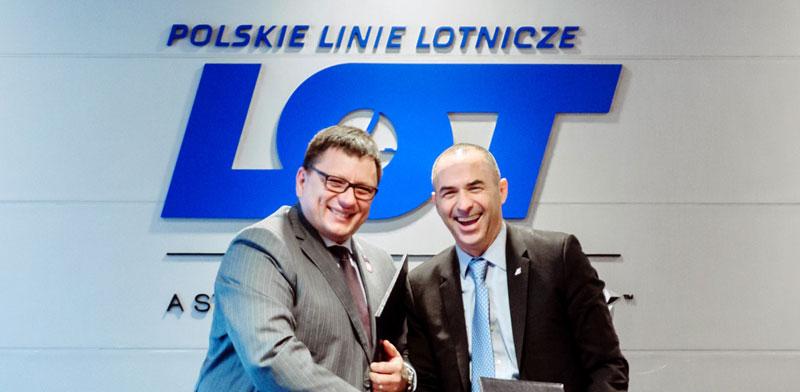 El Al and LOT CEOs Photo: PR Marta Kusmierz