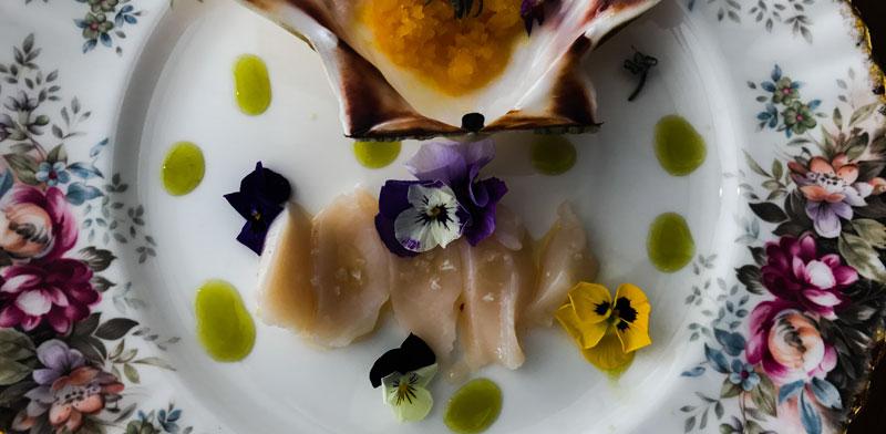 סשימי אינטיאס של אילן פרון במסעדת תלפיות / צילום: אילן פרון