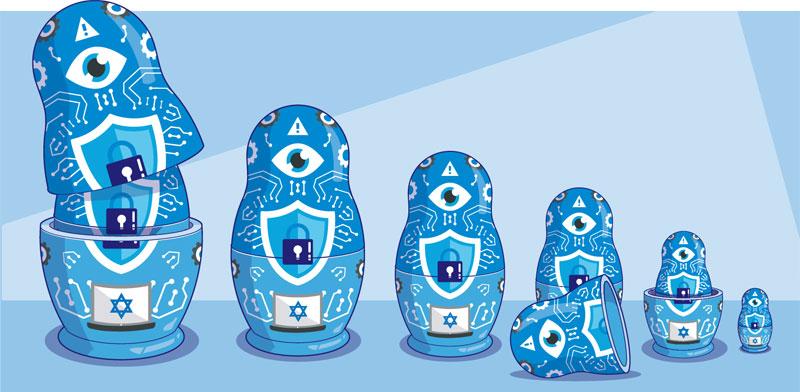 הסייבר הישראלי מוריד הילוך / איור: אייל אונגר
