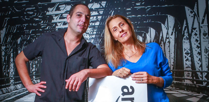 אודליה קפלינסקי-אורבך וניר זיגדון, בעלי חברת איקומיוניטי / צילום: שלומי יוסף