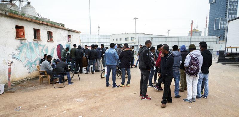 מבקשי מקלט בתל-אביב / צילום: איל יצהר