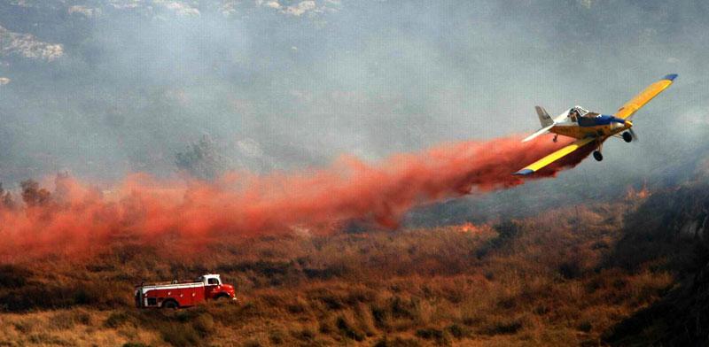 מטוס לכיבוי שרפות של חברת  כים ניר/ צילום:יחצ