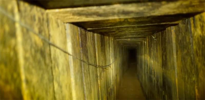 """המנהרה מרצועת עזה שנחשפה הבוקר, 11.10.2018 / צילום: דובר צה""""ל"""