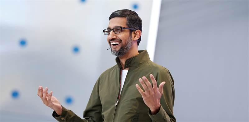 """סונדר פיצ'אי, מנכ""""ל גוגל / צילום: סטפן לם, רויטרס"""