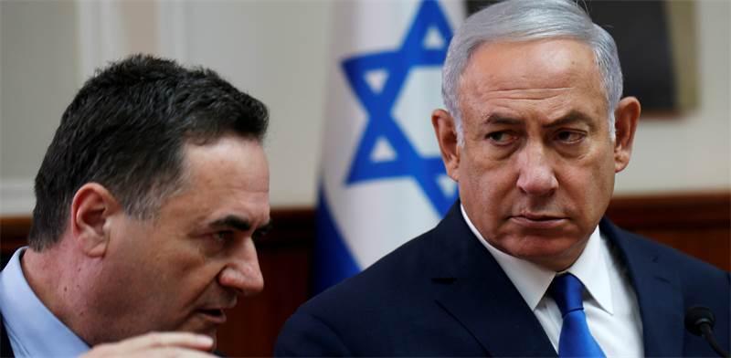 Benjamin Netanyahu and Israel Katz