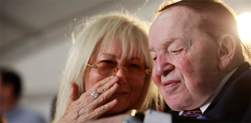 Miriam and Sheldon Adelson