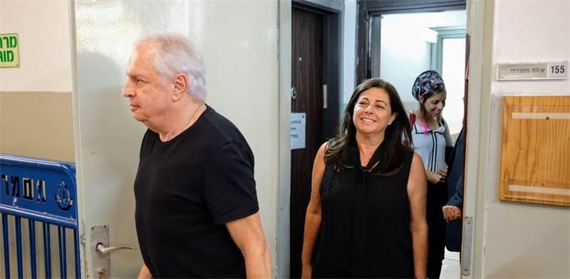 שאול ואיריס אלוביץ בבית המשפט היום / צילום: שלומי יוסף