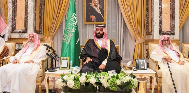 במרכז: יורש העצר הנסיךמוחמד בן סלמאן / צילום: רויטרס