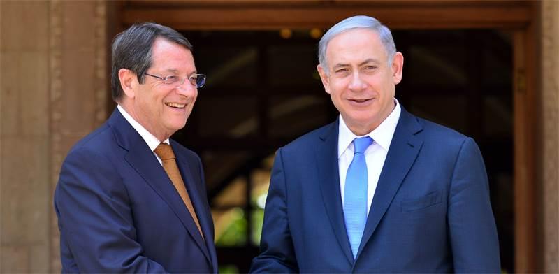Benjamin Netanyahu and  Nicos Anastasiades Photo GPO Kobi Gidon