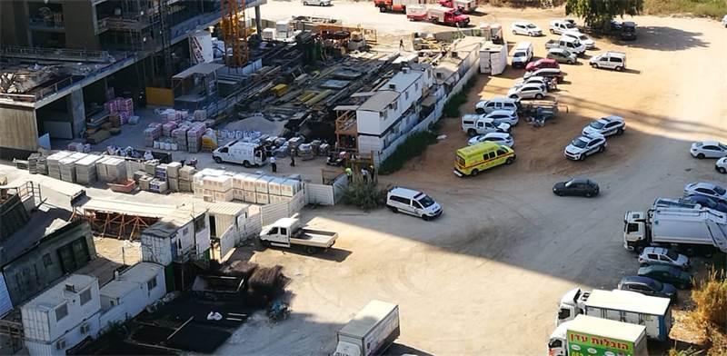 אתר תאונת העבודה של אלקטרה בנייה / צילום: הפורום למניעת תאונות עבודה