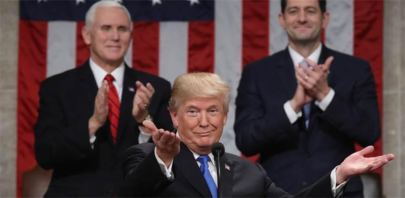 דונלד טראמפ בנאום מצב האומה / רויטרס