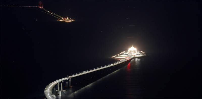 הגשר הימי הארוך בעולם בסין / צילום: רויטרס