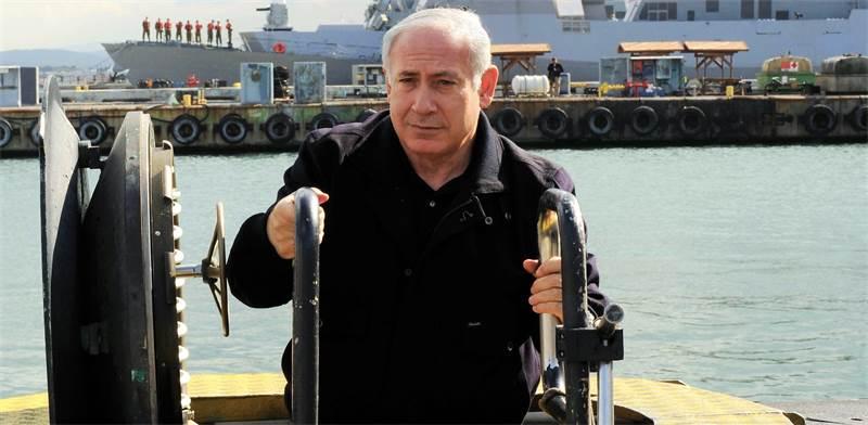 """רה""""מ נתניהו בביקור בצוללת אח""""י תנין / צילום: מארק ניימן, לע""""מ"""