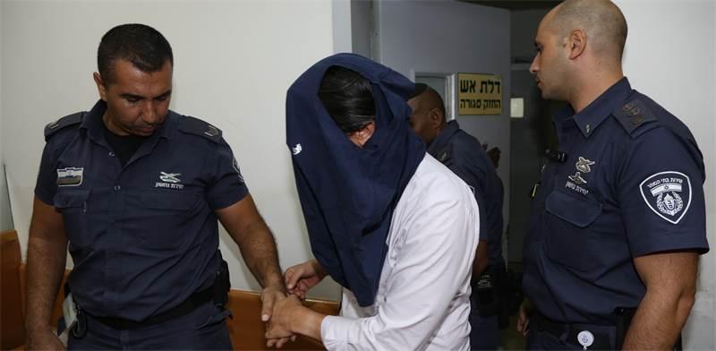 דרור גנון בדיון הארכת המעצר / צילום: אלון רון