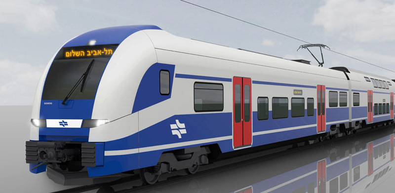 Israel Railways electric car Photo: PR