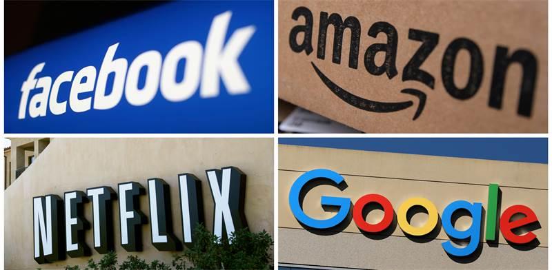 ענקיות הטכנולוגיה האמריקאיות, פייסבוק, אמזון, נטפליקס וגוגל / צילום: REUTERS FILE PHOTO