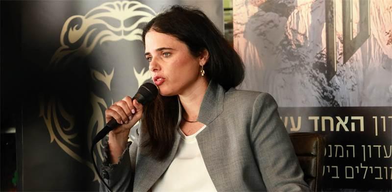 שרת המשפטים איילת שקד בפורום האחד עשר / צילום: שלומי יוסף