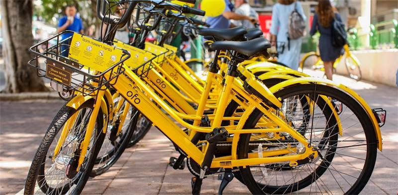 אופניים שיתופיים של OFO / צילום: שלומי מזרחי