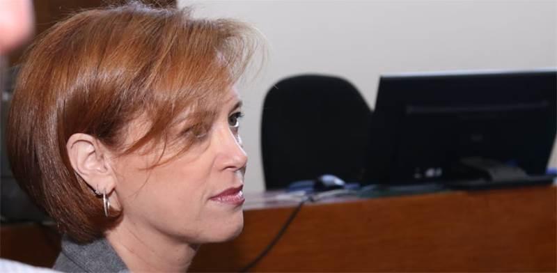 """מנכ""""לית בנק לאומי, רקפת רוסק-עמינח, היום בבית המשפט / צילום: כדיה לוי"""