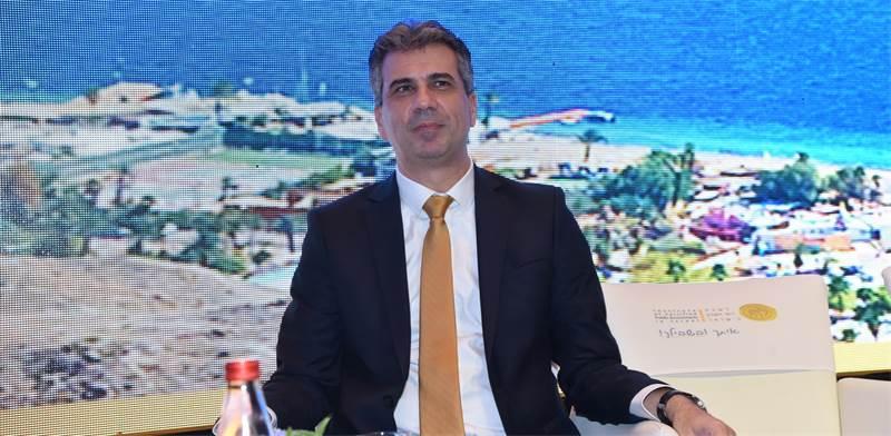 שר הכלכלה, אלי כהן, בכנס באילת / צילום: מרלו