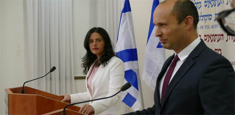 Ayelet Shaked and Naftali Bennett  photo: Amir Meiri