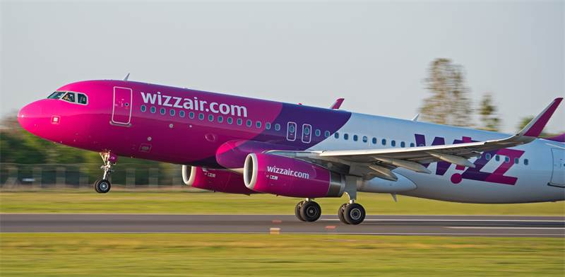 Wizz Air  plane photo: Shutterstock