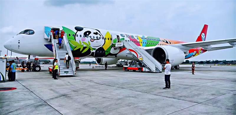 מטוס של חברת התעופה הסינית סצ'ואן איירליינס / צילום: יחצ